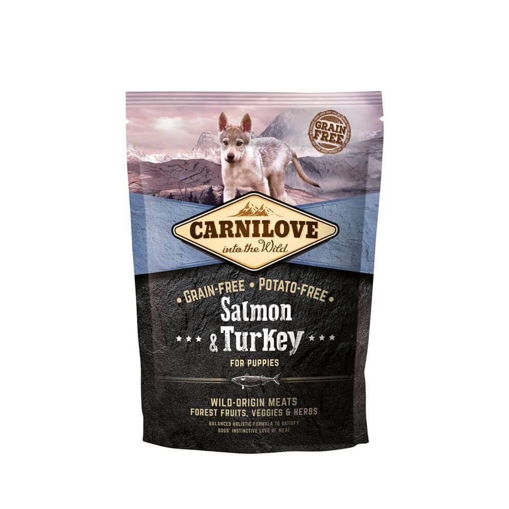 Probe Carnilove Hund - Salmon & Turkey Welpen und Junghunde