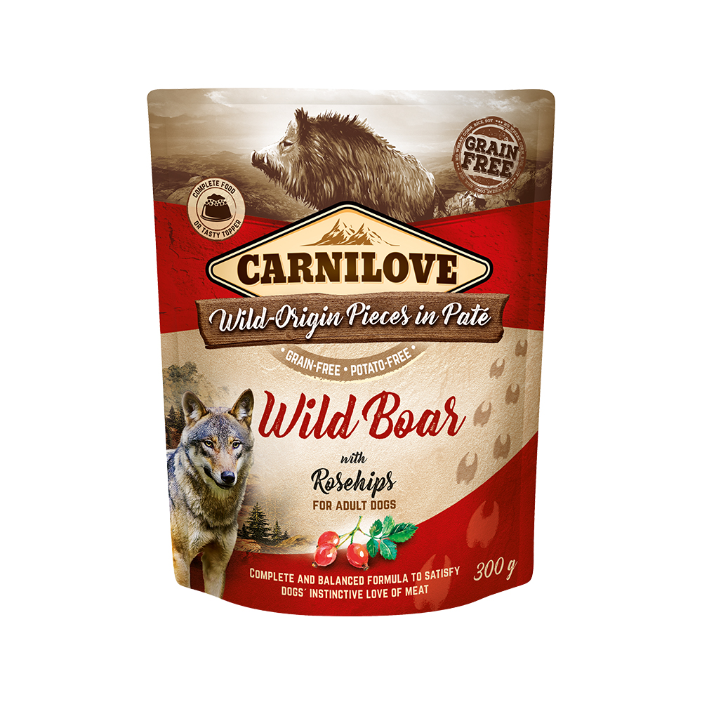 Carnilove Hund Pouch – Wild Boar with Rosehips
