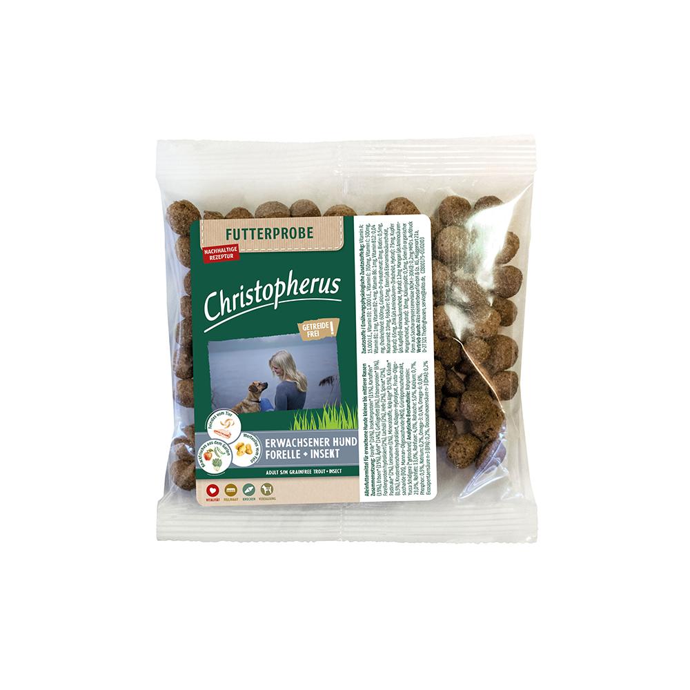 Probe Christopherus - Getreidefrei Forelle + Insekt