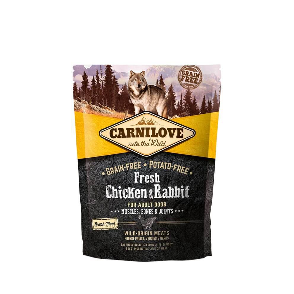 Probe Carnilove Hund Fresh – Chicken & Rabbit